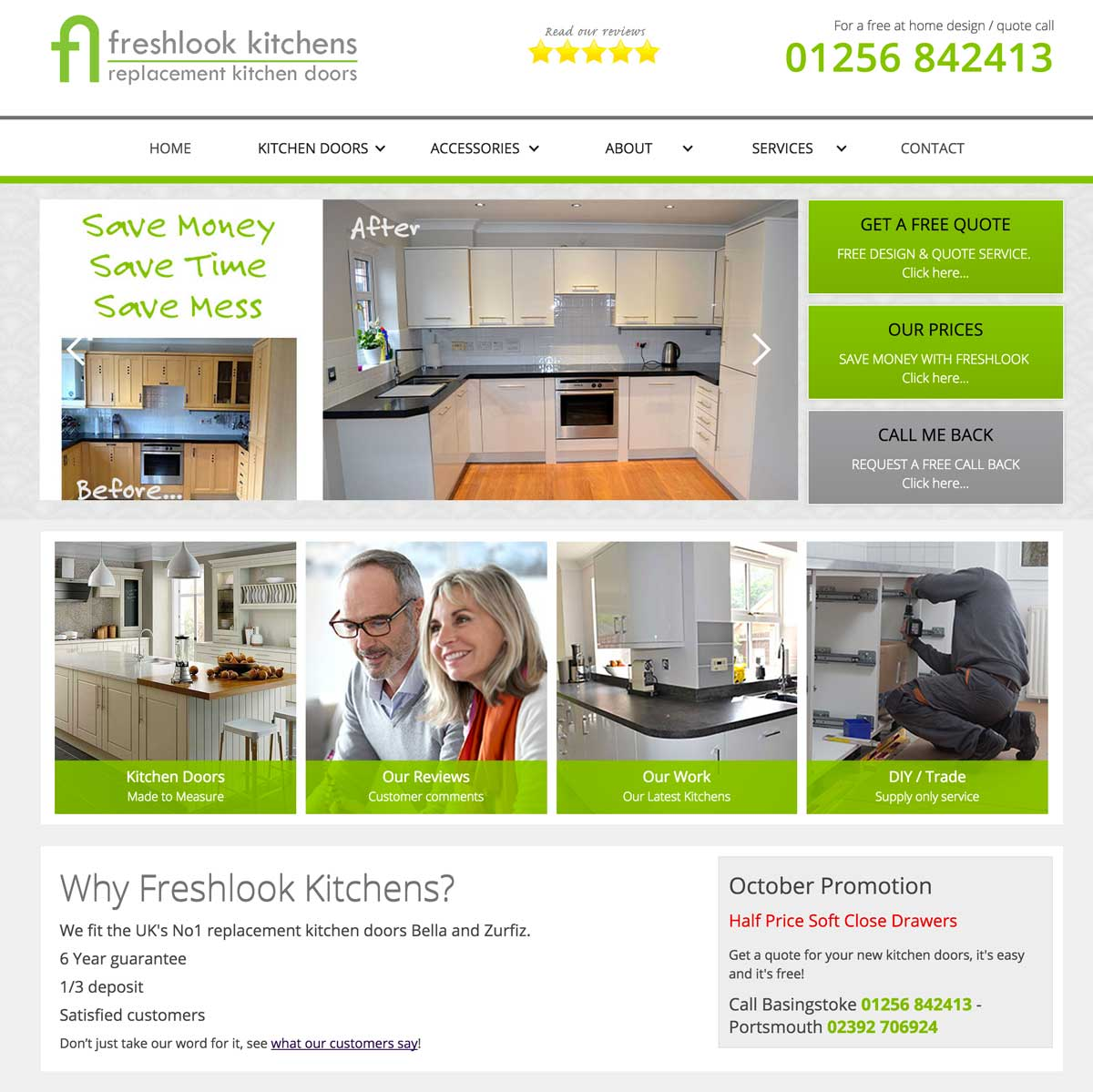 Kitchen Company Website Design