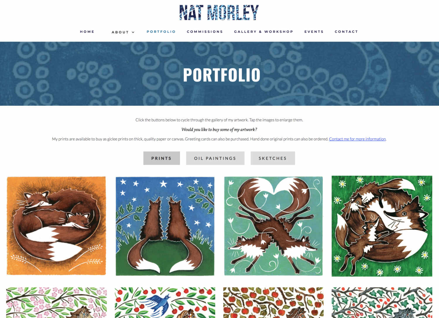 Artist Portfolio Website Design