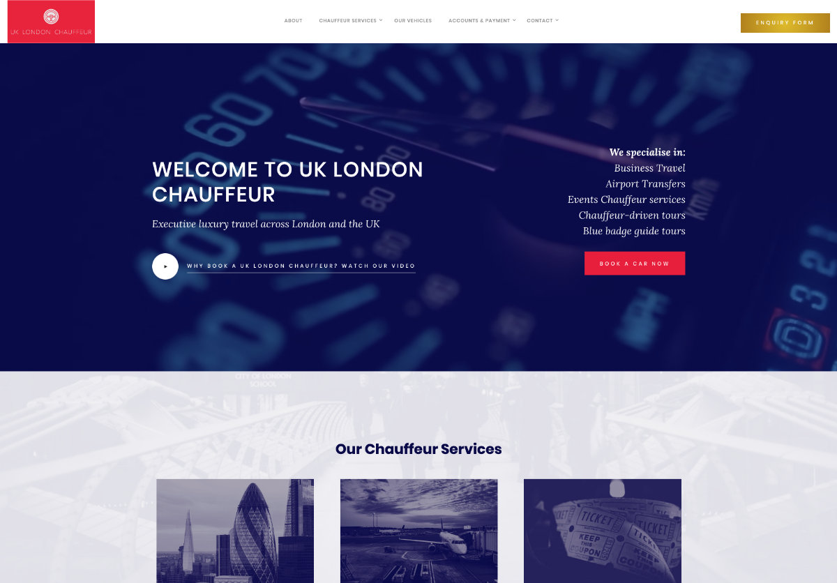 Chauffeur Website