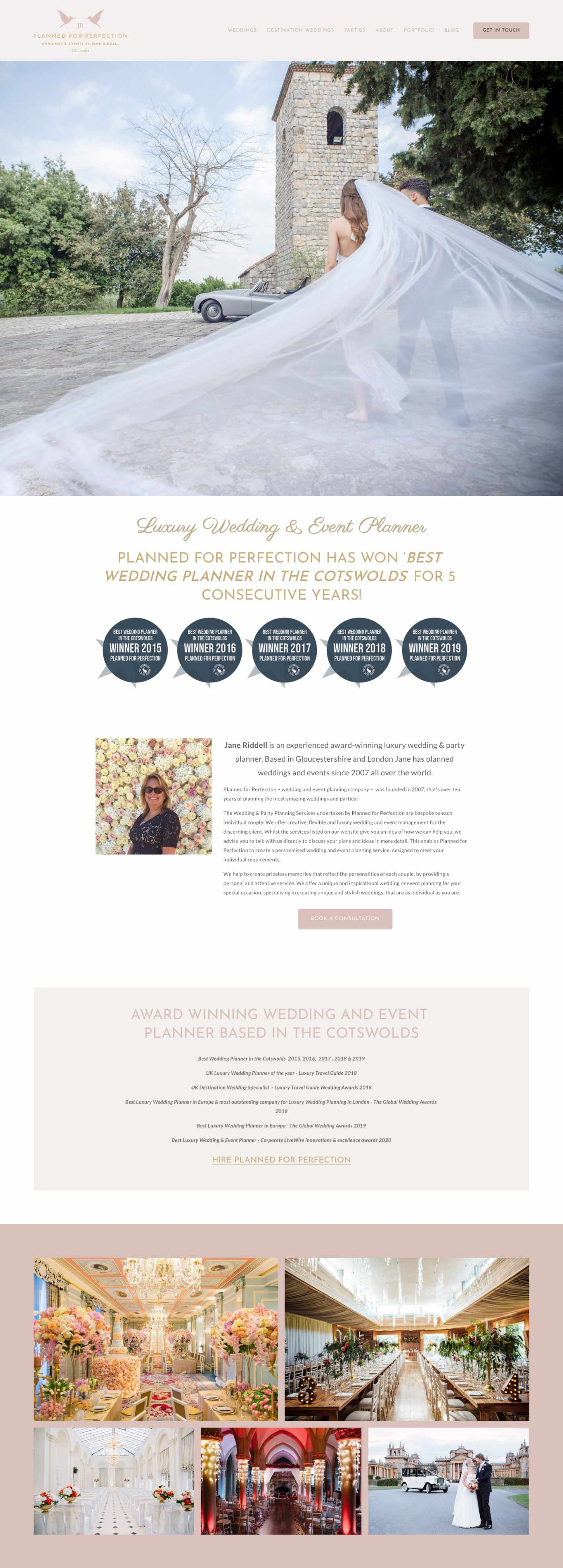Wedding Planner Website Design