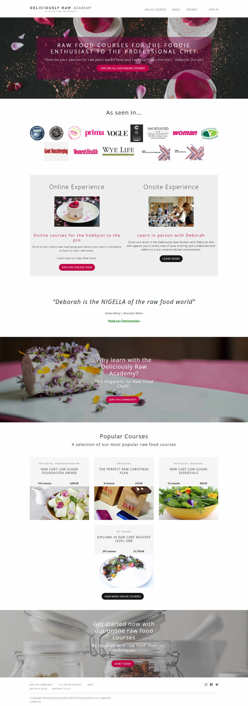 Chef Training Website Design